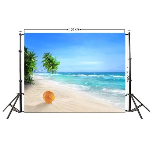 Summer Seascape Beach Dreamlike Haloes 3D Fotografia Sfondo dello schermo Foto Video Fotografia Studio tessuto Puntelli Sfondo