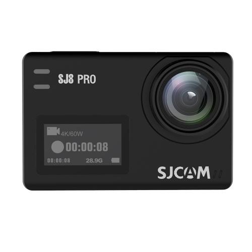 SJCAM SJ8 PRO Caméra d'action 4K / 60FPS WiFi Sports Cam Noir Noir Version