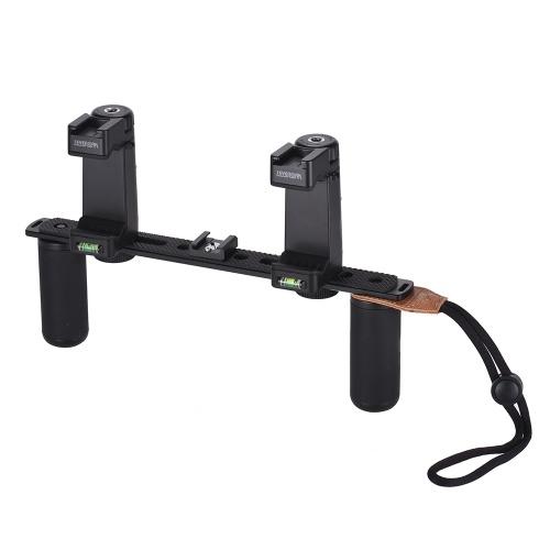 Supporto per staffa per fotografia rig video universale a doppio manico per smartphone SEVENOAK SK-PSC4