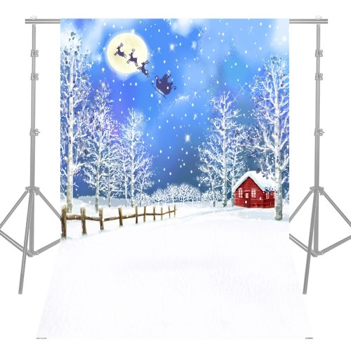 Andoer 1.5 * 2.1m / 5 * 7ft Alta qualità Fotografia di Natale in stile sfondo