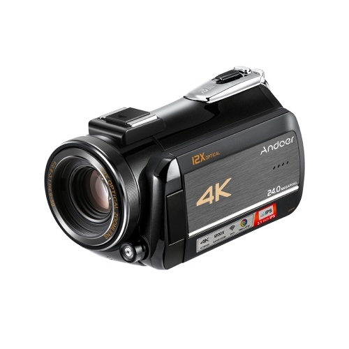 Andoer AC5 4K UHD 24MP Videocámara Digital Videocámara Grabadora DV