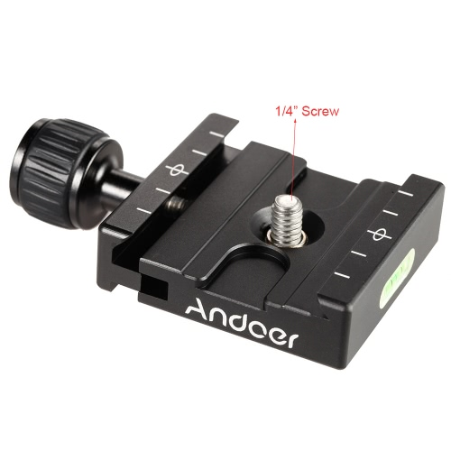 Andoer QR-50 Quick Release Plate Clamp Adapter with Built-in Bubble Level for Arca Swiss RRS Wimberley Tripod Ball HeadCameras &amp; Photo Accessories<br>Andoer QR-50 Quick Release Plate Clamp Adapter with Built-in Bubble Level for Arca Swiss RRS Wimberley Tripod Ball Head<br>