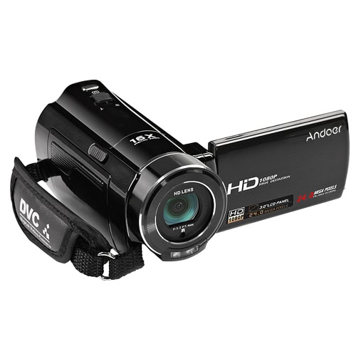 Andoer HDV-V7 1080P Full HD Digital Video Camera Camcorder Max. 24 Mega Pixels 16? Digital Zoom with 3.0 Rotatable LCD Screen SupCameras &amp; Photo Accessories<br>Andoer HDV-V7 1080P Full HD Digital Video Camera Camcorder Max. 24 Mega Pixels 16? Digital Zoom with 3.0 Rotatable LCD Screen Sup<br>