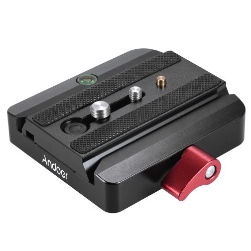 Conectar el adaptador rápido con Quick Andoer la tapa corrediza de estreno de Manfrotto trípode 577 Reemplazo