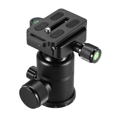 Andoer AD-10 Aluminum Alloy Ball Head Camera Tripod Head with Quick Release Plate 1/4 Screw 3/8 Screw Hole Max. Load Capacity 3kCameras &amp; Photo Accessories<br>Andoer AD-10 Aluminum Alloy Ball Head Camera Tripod Head with Quick Release Plate 1/4 Screw 3/8 Screw Hole Max. Load Capacity 3k<br>
