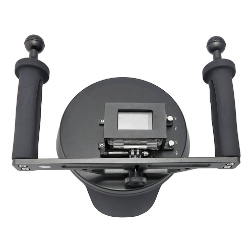 シュート6「透明ダイビング水中カメラレンズドームポートフックカバーHero4 / 3 + / 3のGoPro用ハンドヘルドスタビライザーグリップ写真魚眼レンズ広角レンズシェル/ワット