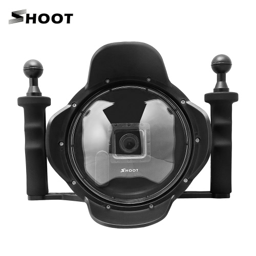 Shoot 6 Transparent Diving Underwater Camera Lens Dome Port Hook Cover w/ Handheld Stabilizer Grip Photography Fisheye Wide AngleCameras &amp; Photo Accessories<br>Shoot 6 Transparent Diving Underwater Camera Lens Dome Port Hook Cover w/ Handheld Stabilizer Grip Photography Fisheye Wide Angle<br>