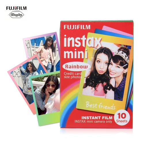 Fujifilm Instax Mini 10 Sheets Colorful Rainbow Film Photo Paper Snapshot Album Instant Print for Fujifilm Instax Mini 7s/8/25/90Cameras &amp; Photo Accessories<br>Fujifilm Instax Mini 10 Sheets Colorful Rainbow Film Photo Paper Snapshot Album Instant Print for Fujifilm Instax Mini 7s/8/25/90<br>