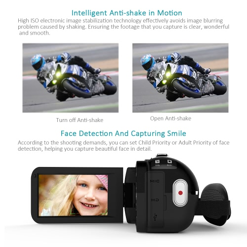 Andoer HDV-Z20 1080P Full HD 24MP WiFi Digital Video Camera Camcorder with 0.39X Wide Angle + Macro Lens 3.0 Rotatable LCD TouchsCameras &amp; Photo Accessories<br>Andoer HDV-Z20 1080P Full HD 24MP WiFi Digital Video Camera Camcorder with 0.39X Wide Angle + Macro Lens 3.0 Rotatable LCD Touchs<br>