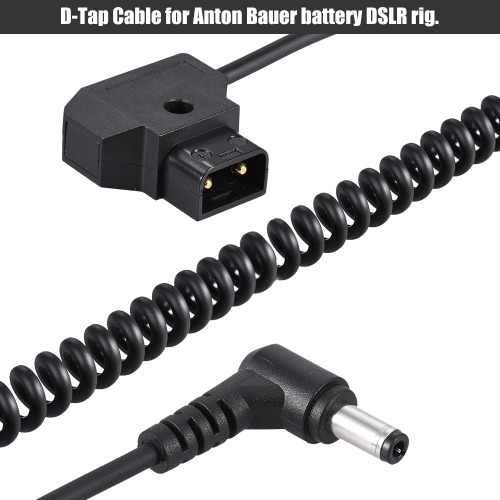 Andoer Coiled 2m/6.5ft D-Tap 2Pin Male to DC 5.5 * 2.1mm Adapter Cable Extension Elastic Line for Anton V-Mount Battery DSLR CageCameras &amp; Photo Accessories<br>Andoer Coiled 2m/6.5ft D-Tap 2Pin Male to DC 5.5 * 2.1mm Adapter Cable Extension Elastic Line for Anton V-Mount Battery DSLR Cage<br>