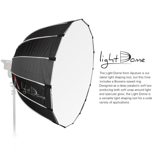 Aputure Light Dome Multi-Purpose Parabolic Light-Reflecting Softbox with Diffuser Bowens Mount for Aputure Light Storm LS 120T 120Cameras &amp; Photo Accessories<br>Aputure Light Dome Multi-Purpose Parabolic Light-Reflecting Softbox with Diffuser Bowens Mount for Aputure Light Storm LS 120T 120<br>