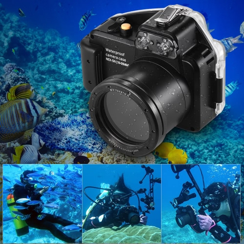 MEIKON Camera Waterproof Diving Housing Protective Case Cover Underwater 40m/ 130ft for Sony NEX-5(18-55MM)Cameras &amp; Photo Accessories<br>MEIKON Camera Waterproof Diving Housing Protective Case Cover Underwater 40m/ 130ft for Sony NEX-5(18-55MM)<br>