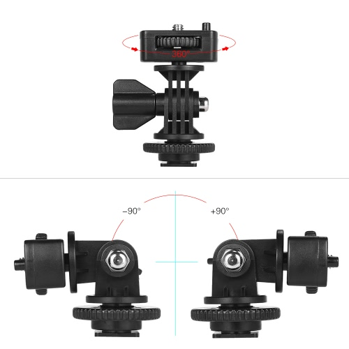 Adjustable Cold Hot Shoe Mount Adapter with 1/4 Screw for Viltrox DC-90 DC-70 DC-50 Monitor L132T L116T LED Video LightCameras &amp; Photo Accessories<br>Adjustable Cold Hot Shoe Mount Adapter with 1/4 Screw for Viltrox DC-90 DC-70 DC-50 Monitor L132T L116T LED Video Light<br>
