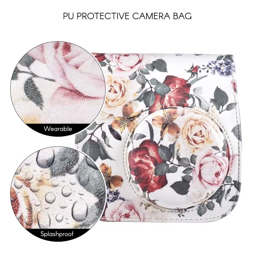 PU Protective Instant Camera Case Bag Pouch Protector with Strap for Fujifilm Instax Mini 8+/8s/8/9Cameras &amp; Photo Accessories<br>PU Protective Instant Camera Case Bag Pouch Protector with Strap for Fujifilm Instax Mini 8+/8s/8/9<br>