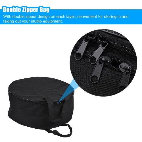41cm Beauty Dish Carry Case Bag Studio Equipment Bag Two-layer Design Drum Style with Honeycomb Grid Divider (40-42cm)Cameras &amp; Photo Accessories<br>41cm Beauty Dish Carry Case Bag Studio Equipment Bag Two-layer Design Drum Style with Honeycomb Grid Divider (40-42cm)<br>