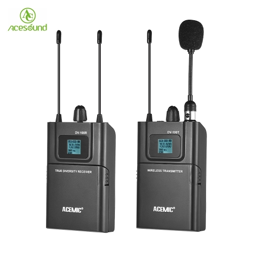 ACEMIC DV-100 UHF Wireless Transmitter Receiver MicrophoneCameras &amp; Photo Accessories<br>ACEMIC DV-100 UHF Wireless Transmitter Receiver Microphone<br>