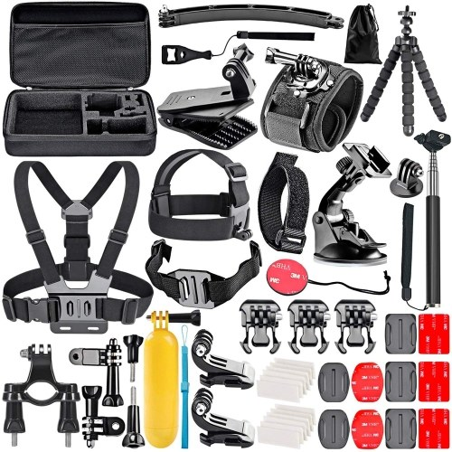50pcs Camera Accessories Cam Tools for Outdoor Photography Cameras Protection Tool Set for GoPro Hero 6 5 4 3+ 3 2 1 Hero Session 5 Black AKASO EK7000 Apeman SJ4000 5000 6000