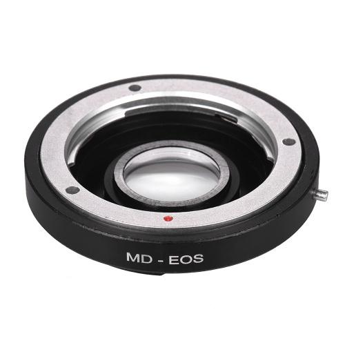 MD-EOS Lens Mount Adapter Ring مع عدسات تصحيحية لعين مينولتا MD لتناسب كاميرا كانون EOS Camera Focus Infinity
