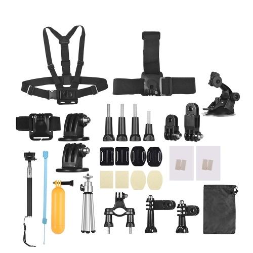 Kit de accesorios de cámara de acción común básica Andoer 46-en-1 para GoPro