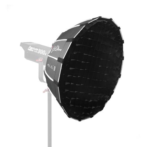 Aputure Light Dome Mini II Kompakte Größe Studio Mehrzweck Parabolspiegelung Softbox Bowens Mount mit Diffusor Tuch Wabengitter Gel Halter Tragetasche für Aputure LS COB 120 T / 120 D / 120 D II / 300 D LED Videoleuchte