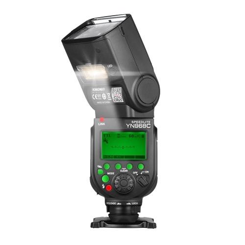 YN968C YN968CワイヤレスTTLフラッシュスピードライト1 / 8000s HSS内蔵LEDライト5600KキヤノンDSLRカメラ用YN622C YN560ワイヤレスシステムと互換性