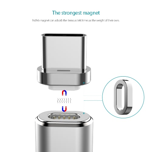 dodocool Metal Detachable Magnetic USB-C Connector for dodocool Detachable Magnetic Charge Sync Cable SilverCellphone &amp; Accessories<br>dodocool Metal Detachable Magnetic USB-C Connector for dodocool Detachable Magnetic Charge Sync Cable Silver<br>