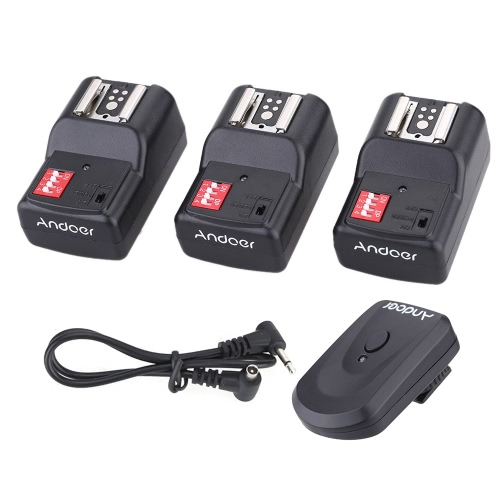 Andoer 16 Channel Wireless Remote Flash Trigger Set 1 Transmitter + 3 Receivers + 1 Sync Cord for Canon Nikon Pentax Olympus SigmaCameras &amp; Photo Accessories<br>Andoer 16 Channel Wireless Remote Flash Trigger Set 1 Transmitter + 3 Receivers + 1 Sync Cord for Canon Nikon Pentax Olympus Sigma<br>