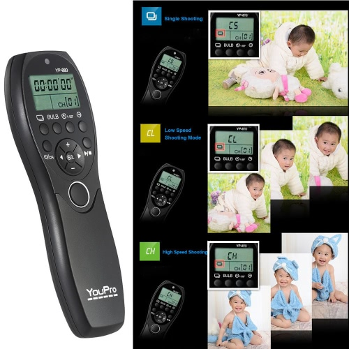 YouPro YP-880 DC2 Camera Wired Shutter Release Timer Remote Control LCD Display for Nikon D500 D750 D7100 D7200 D7000 D600 D610 D5Cameras &amp; Photo Accessories<br>YouPro YP-880 DC2 Camera Wired Shutter Release Timer Remote Control LCD Display for Nikon D500 D750 D7100 D7200 D7000 D600 D610 D5<br>