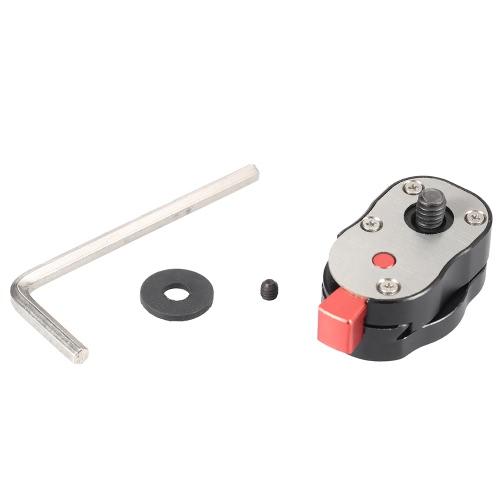 Mini piastra a sgancio rapido per LCD Monitor Magic Arm LED fotocamera videocamera Rig