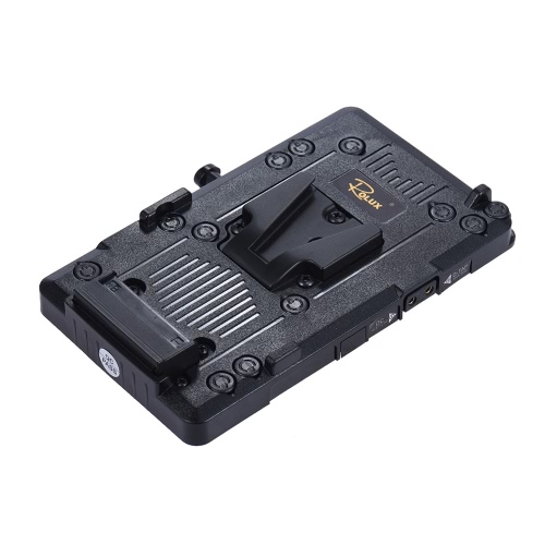 Rolux RL-IS2 V-mount V-lock Plate Battery Power Supply DIY pour Sony BMCC BMPCC Camcorder moniteur LED Video Light