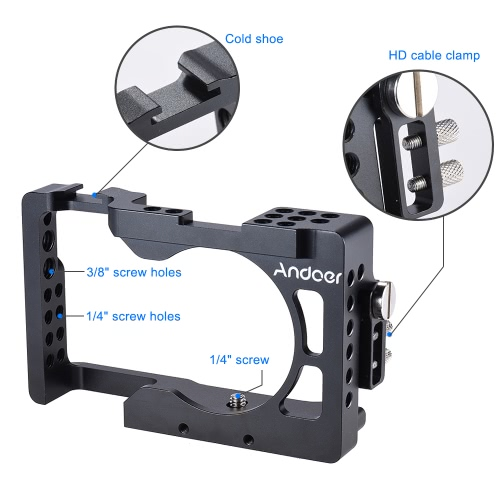 Andoer Aluminum Alloy Camera Cage for Sony A6500 ILDC CameraCameras &amp; Photo Accessories<br>Andoer Aluminum Alloy Camera Cage for Sony A6500 ILDC Camera<br>