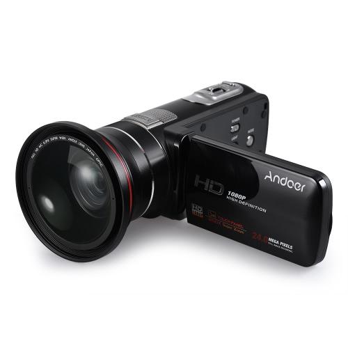 Caméra vidéo numérique Andoer HDV-Z80 1080P Full HD 24MP