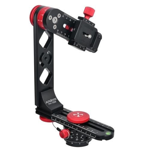 Andoer PH-720B 720 ° Панорамный головной алюминиевый сплав с аркой-швейцарской стандартной шаровой головкой Quick Release Plate Carry Bag Макс. Загрузите 10 кг для Nikon Canon Sony DSLR Camera
