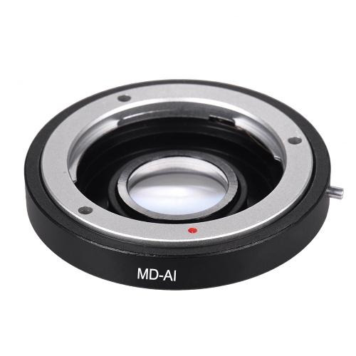Anillo de adaptador de montaje de lente MD-AI con lente correctora para Minolta MD Objetivo de montaje de MC ajustado para Nikon AI F Monte la cámara para D3200 D5200 D7000 D7200 D800 D700 D300 D90 Focus Infinity
