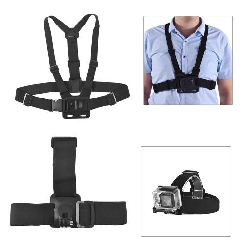 Juego de accesorios básicos de cámara de acción común Andoer 37 en 1 para GoPro hero 7/6/5/4 SJCAM / YI Juego de accesorios de cámara para deportes al aire libre