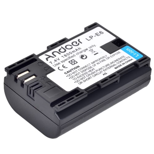 Andoer LP-E6 Rechargeable Replacement Camera Camcorder Li-ion Lithium Battery Full Coded 1800mAh High Capacity for Canon EOS 5D MaCameras &amp; Photo Accessories<br>Andoer LP-E6 Rechargeable Replacement Camera Camcorder Li-ion Lithium Battery Full Coded 1800mAh High Capacity for Canon EOS 5D Ma<br>