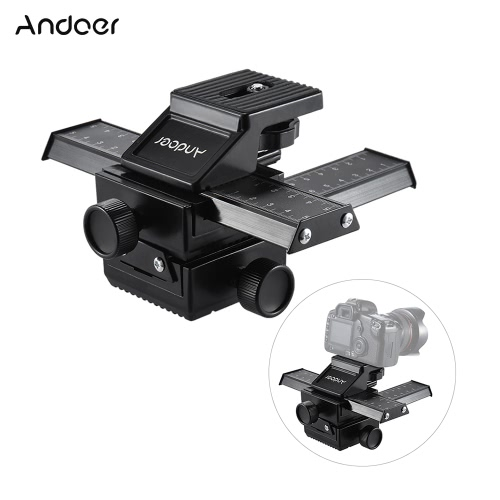 Andoer 4 Way Macro-focusing Close-up Shooting Photography Tripod Head Rail Slider for Nikon Canon Sony Pentax Olympus Panasonic DSCameras &amp; Photo Accessories<br>Andoer 4 Way Macro-focusing Close-up Shooting Photography Tripod Head Rail Slider for Nikon Canon Sony Pentax Olympus Panasonic DS<br>