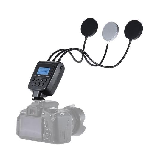 Travor ML-3DS Диммируемый Гибкая трех металлических труб круглого кольца 36 светодиодные вспышки 7 цветов ЖК-экран для макро съемки крупным планом для Canon Nikon Panasonic Olympus Sony-MI DSLR Camera