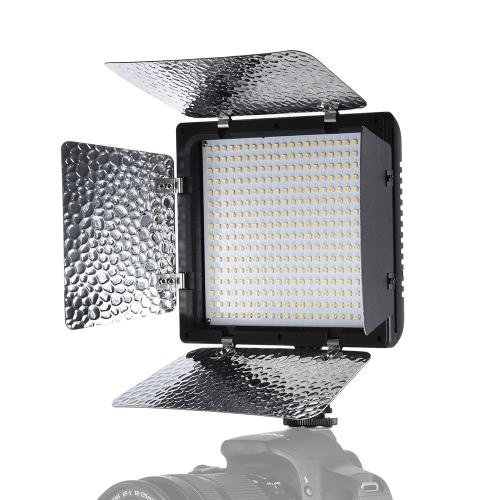 Andoer W368-Ⅱ двойной цветовой температуры LED Video Light 3200K-6000K Регулировка яркости фотографии свет 368 LED Непрерывный свет панели с камерой Mount и фильтры