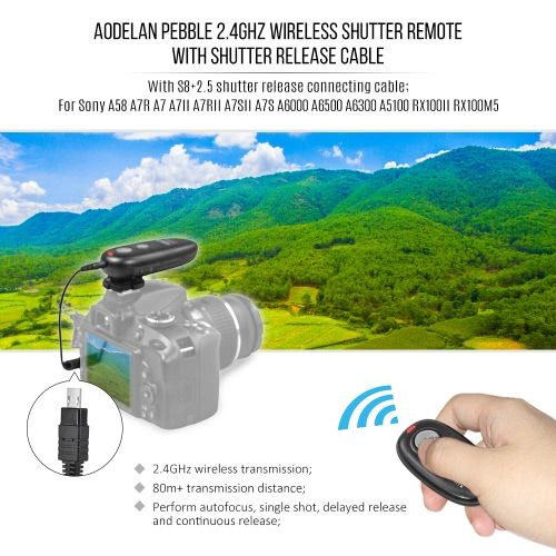 Aodelan PEBBLE 2.4GHz Wireless Remote Shutter Release Wireless Shutter Remote Performing Autofocus Single Shot Delayed Release ConCameras &amp; Photo Accessories<br>Aodelan PEBBLE 2.4GHz Wireless Remote Shutter Release Wireless Shutter Remote Performing Autofocus Single Shot Delayed Release Con<br>