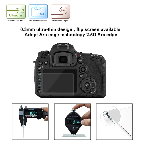 PULUZ Camera Screen Protective Films Polycarbonate Protect Film Anti-scratch Hardness Tempered Glass Screen Protector for Canon SoCameras &amp; Photo Accessories<br>PULUZ Camera Screen Protective Films Polycarbonate Protect Film Anti-scratch Hardness Tempered Glass Screen Protector for Canon So<br>