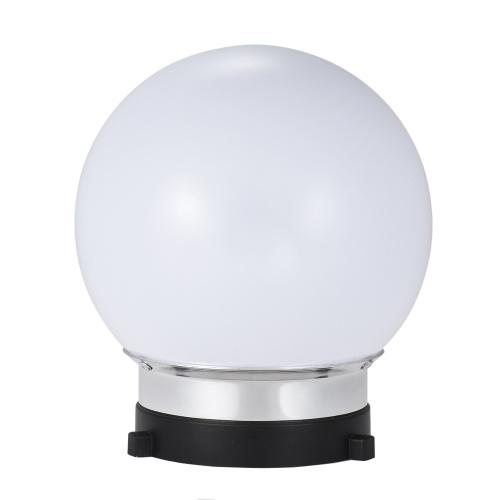 Esfera esférica do difusor de 7inch Monolight com S-tipo de Bowens montagem para o flash da iluminação do estúdio