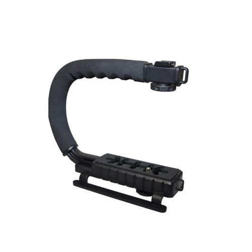 DV Hand Held C-Shaped Shooting Video Stabilizer Handgehalten Stabilisierungsgriff Low Frame Flash Ständer Stabilizer