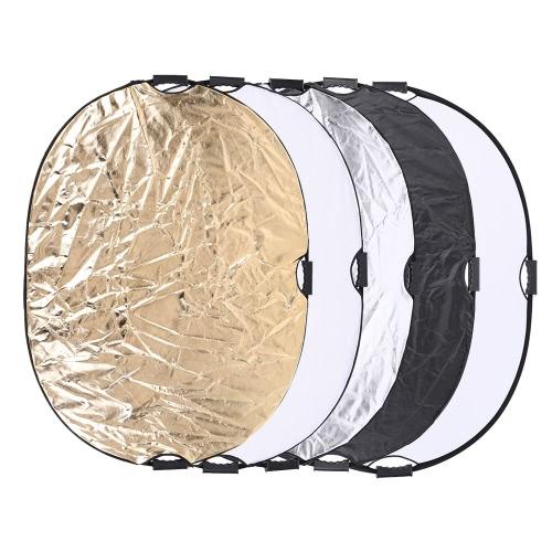 Andoer 90 * 120cm 5 en 1 rond circulaire portative de multi-disque Collapsible Photo photographie Studio réflecteur de lumière vidéo