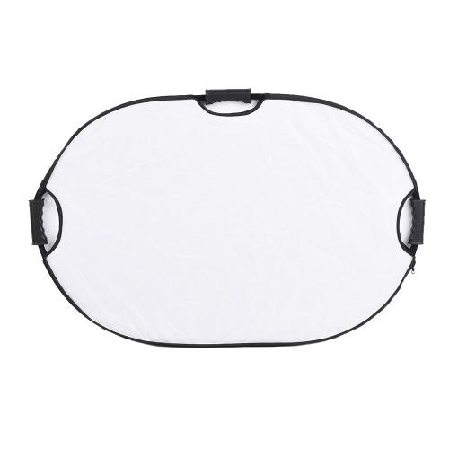 Andoer 90 * 60cm portatif ovale pliable 5en1 multi réflecteur avec de l'or / Sliver / Blanc / Noir / Couleurs Translucide pour Photo Studio Photography
