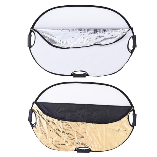 Andoer 90*60cm Portable Handheld Oval Collapsible 5in1 Multi Reflector with Gold/Sliver/White/Black/Translucent Colors for Photo SCameras &amp; Photo Accessories<br>Andoer 90*60cm Portable Handheld Oval Collapsible 5in1 Multi Reflector with Gold/Sliver/White/Black/Translucent Colors for Photo S<br>