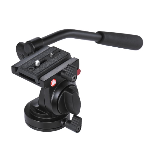Handgrip Video Photography Fluid Drag Hydraulic Tripod Head for Canon Nikon DSLR Camera Camcorder Max. Load Capacity 5kg / 11Lbs ACameras &amp; Photo Accessories<br>Handgrip Video Photography Fluid Drag Hydraulic Tripod Head for Canon Nikon DSLR Camera Camcorder Max. Load Capacity 5kg / 11Lbs A<br>