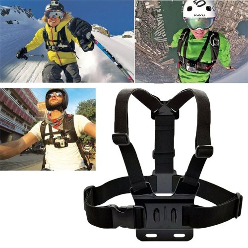 Terno de três peças Ação Ajustável Para Gopro Camera Chest Strap Headband Flutuante Acessórios Alça de Mão Headstrap Professiona Monte Tripé Capacete Esporte