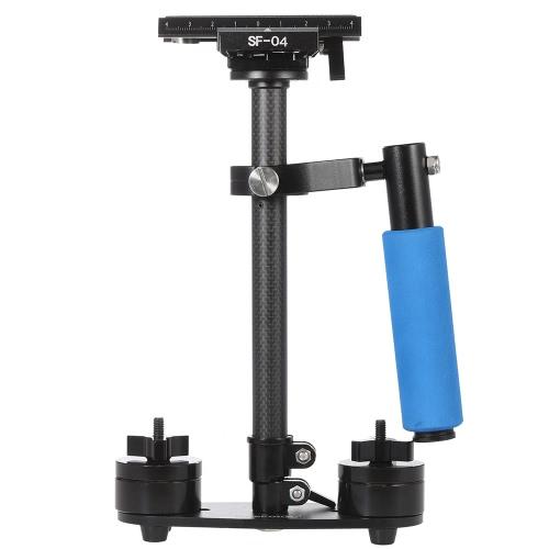 スタビライザー Andoer® 炭素繊維製 ミニ ハンドヘルド ハンドル グリップ ビデオカメラ用 スタビライザー 安定装置 クイックリリースプレート付き  Canon Nikon Sony Pentax デジタル一眼レフ・ビデオカメラ・DVのために