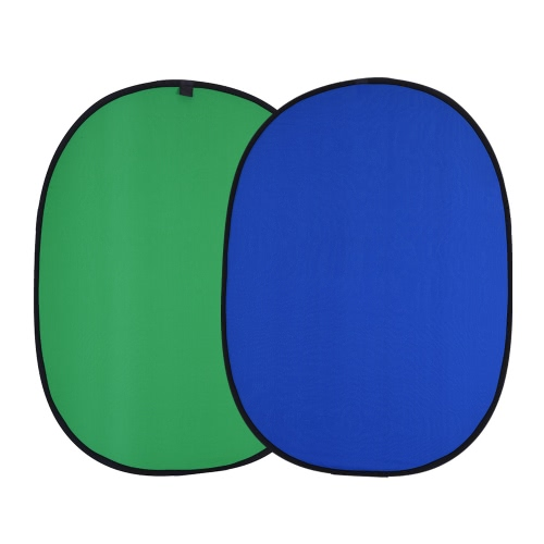 Andoer 1.5 * 2.0m dobrável Muslin algodão azul & verde (2em1) Painel backdrop para Photo & Video Studio Fotografia
